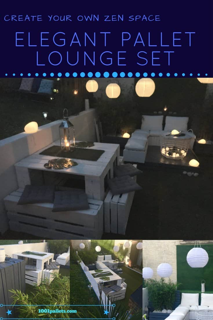 Elegant Garden Lounge Set • 1001 Pallets