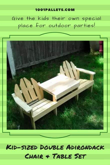 Kids Pallet Adirondack Chairs/Table Set