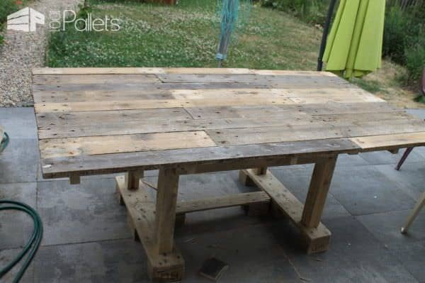 Large Pallet Garden Table Pallet Desks & Pallet Tables