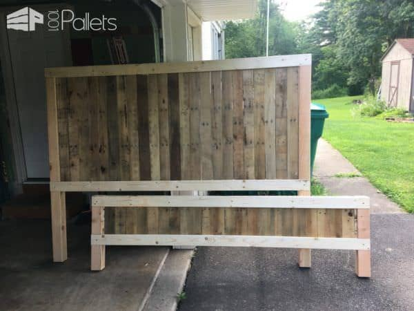 Unique Rustic King size Pallet Bed Frame DIY Pallet Bed Headboard u Frame