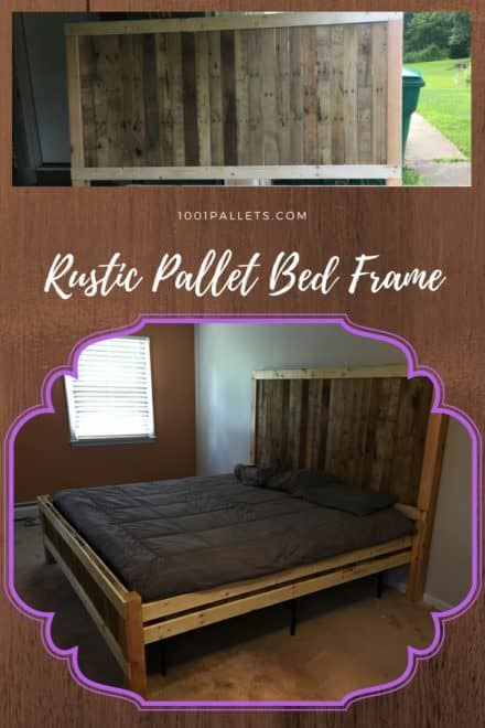Rustic King-size Pallet Bed Frame