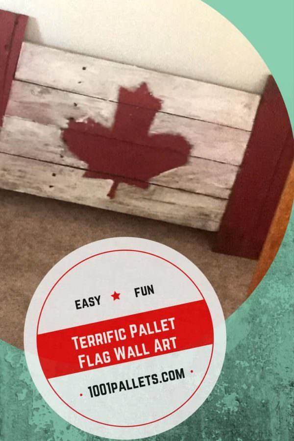 Rustic Pallet Flag Celebrates Canada Day