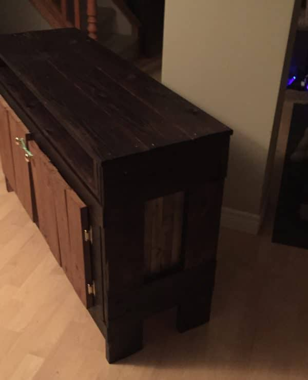 Side view of this Pallet Wood Entertainment Unit