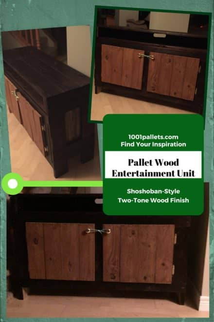 Shoshoban-style Pallet Wood Entertainment Unit