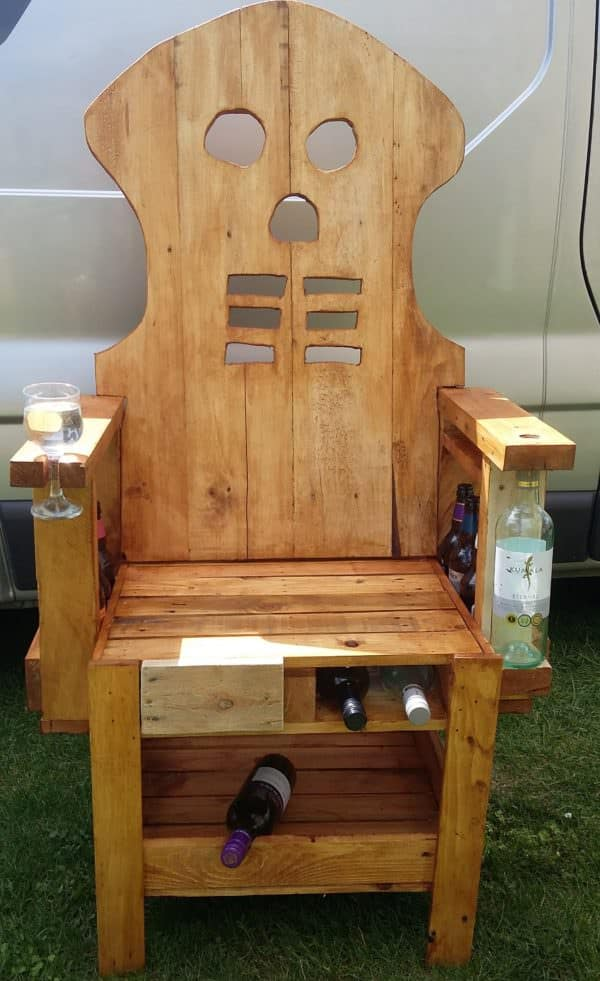 Pallet Party Bar Chair is a conversation piece and a handy, functional piece of furniture.