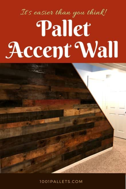 Staircase Pallet Accent Wall Adds Warmth To Room
