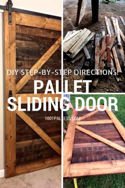 Stylish Rustic Sliding Pallet Interior Door