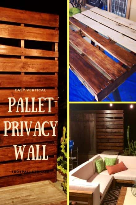 Vertical Pallet Privacy Wall For Our Garden