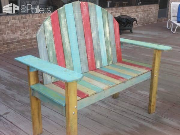 Chalk-paint Two-person Pallet Bench Pallet Benches, Pallet Chairs & Stools
