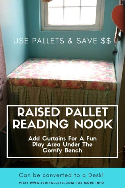 Charming Pallet Reading Nook Converts Into Desk