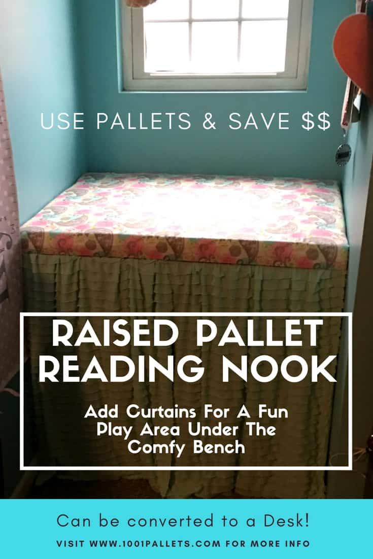 Charming Pallet Reading Nook Converts Into Desk 1001 Pallets