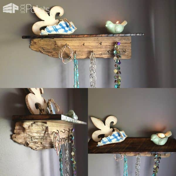 Diy Video Tutorial: Driftwood / Pallet Shelf Jewelry Display DIY Pallet Video Tutorials Pallet Shelves & Pallet Coat Hangers Pallet Wall Decor & Pallet Painting