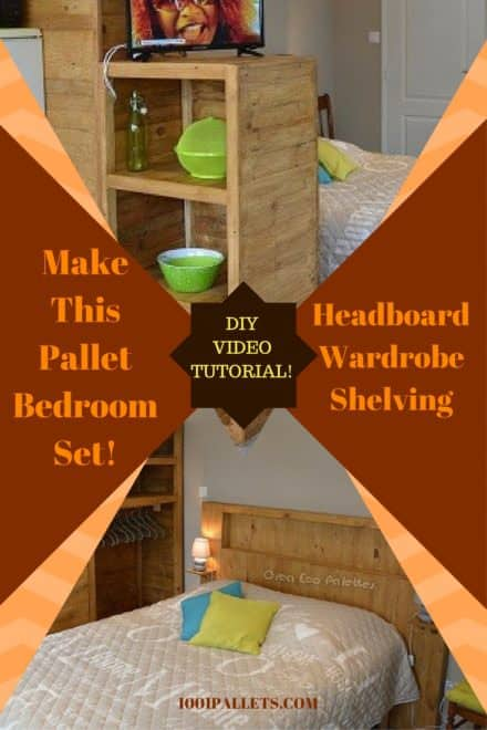 Diy Video Tutorial: Pallet Bedroom Set / Ensemble De Chambre En Palettes