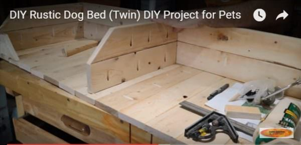 Diy Video Tutorial: Pallet Two-dog Bed