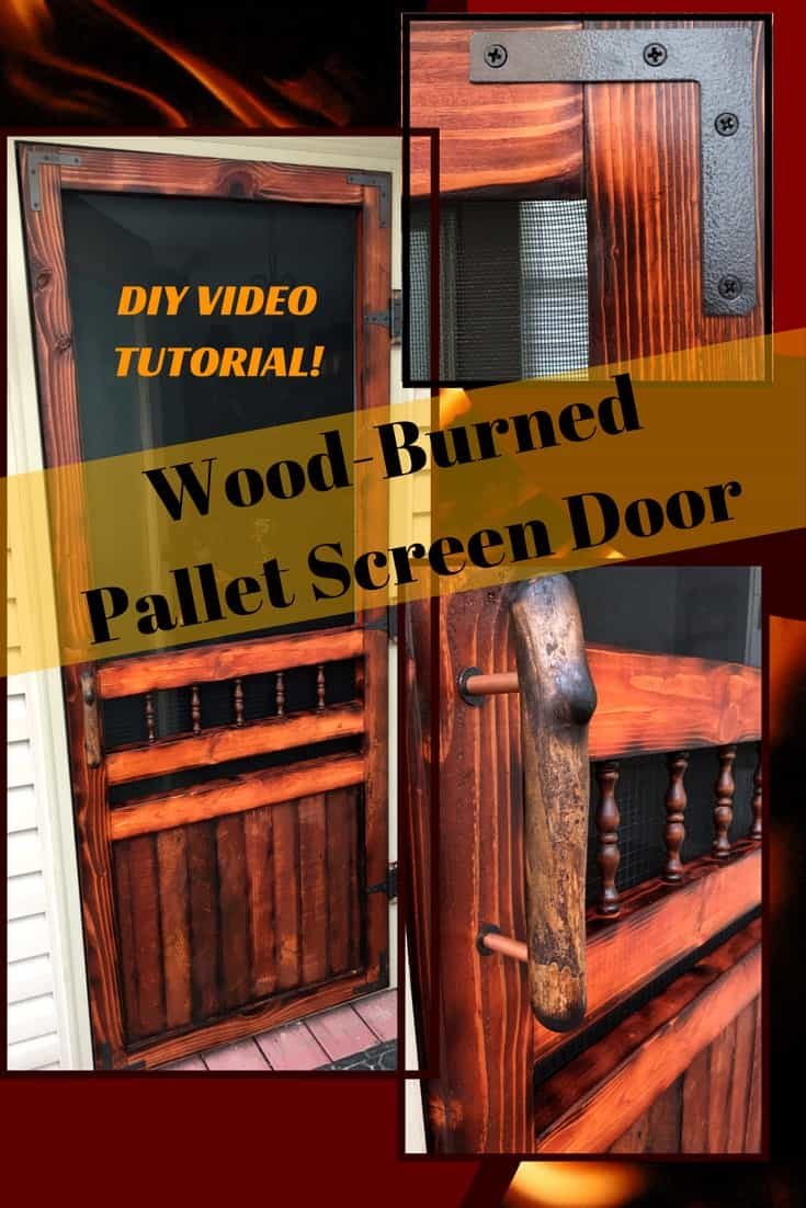 Diy Video Tutorial Pallet Wood Screen Door 1001 Pallets