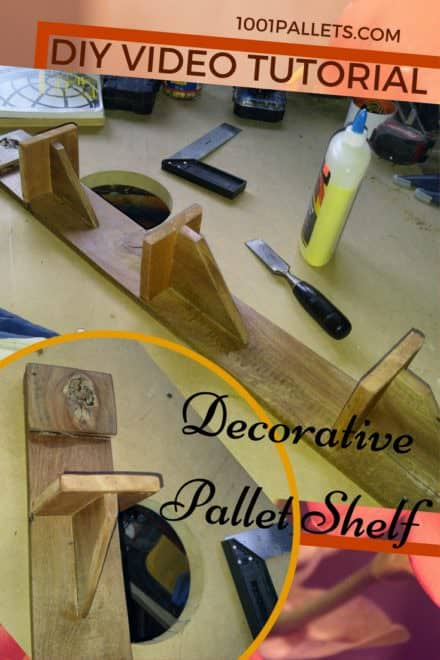Diy Video Tutorial: Simple Decorative Pallet Shelf