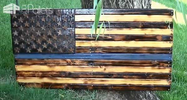 Diy Video Tutorial: Thin Blue Line Pallet Flag DIY Pallet Video TutorialsPallet Wall Decor & Pallet Painting