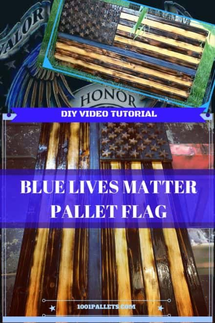 Diy Video Tutorial: Thin Blue Line Pallet Flag
