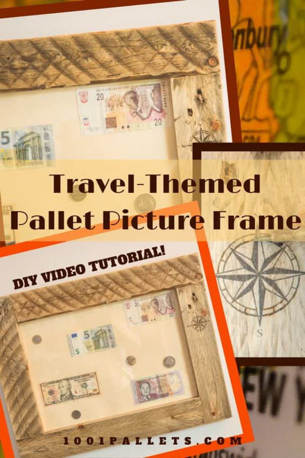 Diy Video Tutorial: Travel-inspired Pallet Picture Frame