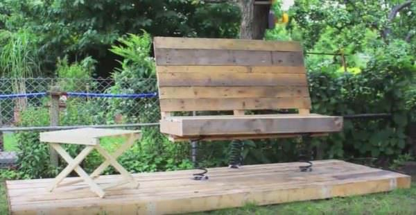 Make this Bouncy Bench and have a place to rock the grandbabies!