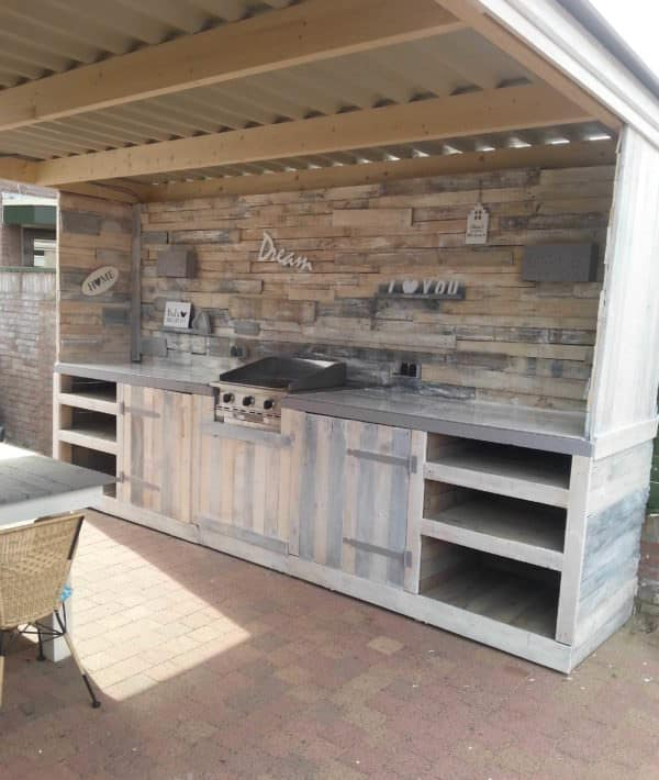 Get Grillin' With These 10 Pallet Barbecue Projects! DIY Pallet BarsLounges & Garden SetsOther Pallet ProjectsPallet Cabinets & Pallet WardrobesPallet Desks & Pallet Tables