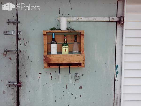 Half-pallet Wine Racks Are Super Easy! Pallet Shelves & Pallet Coat Hangers