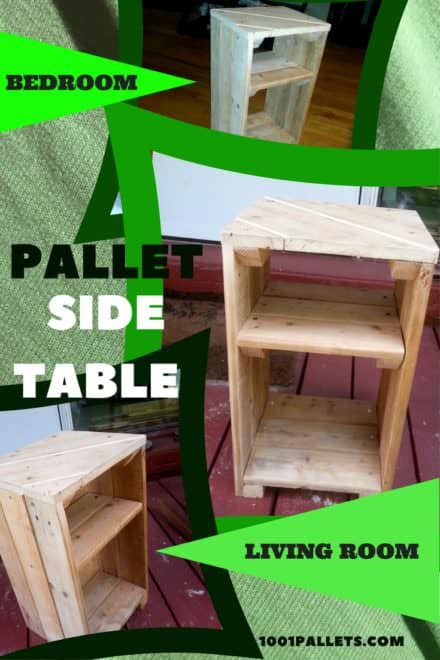 Multi-use Handy Pallet Side Table / Nightstand