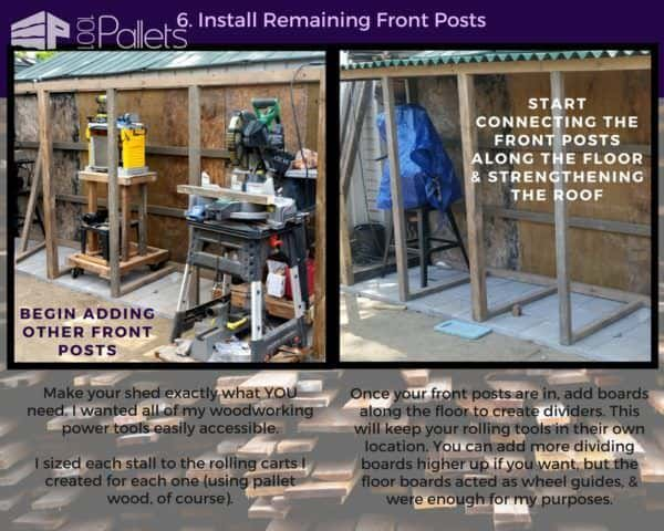 Complete framing out the front posts and header board of your Stall Tool Shed
