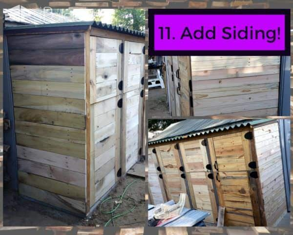 Add siding to your Stall Tool Shed.