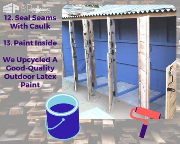 Seal and paint the interior of your Stall Tool Shed.