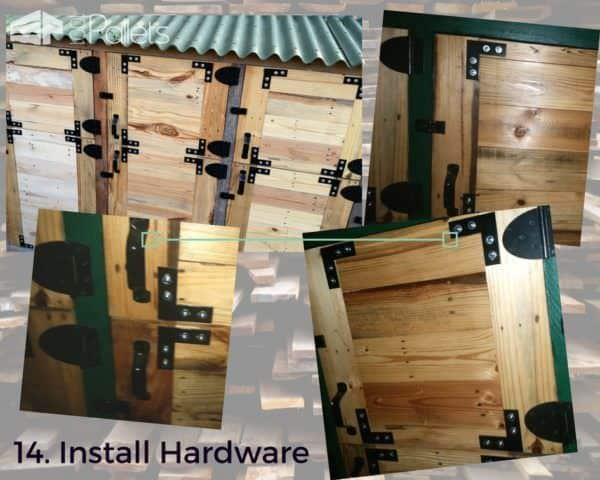 Install your exterior hardware for the doors on your Stall Tool Shed.