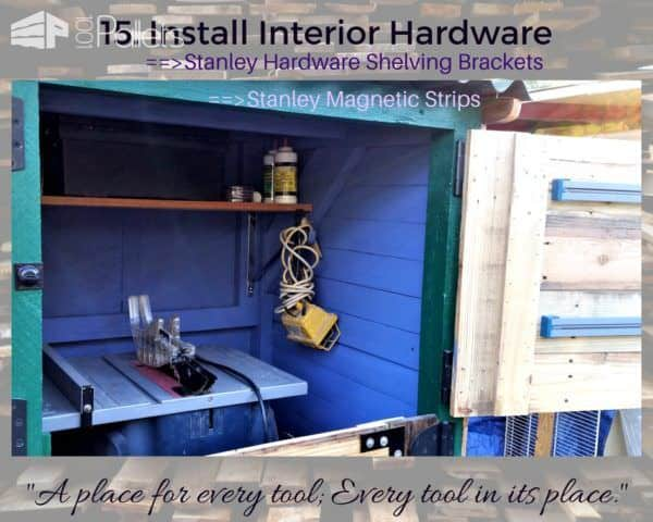 Add interior features YOU need to customize the Stall Tool Shed any way you need.