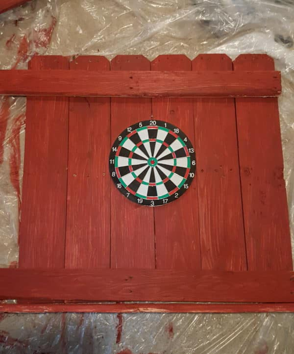 Pallet Dartboard Surround will protect your walls.