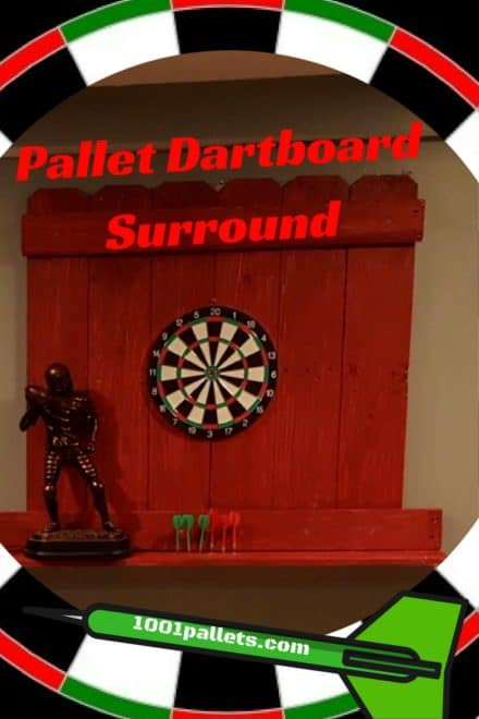 Pallet Dartboard Surround Protects Walls