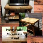 Pallet Microwave Stand Supports Large Appliances