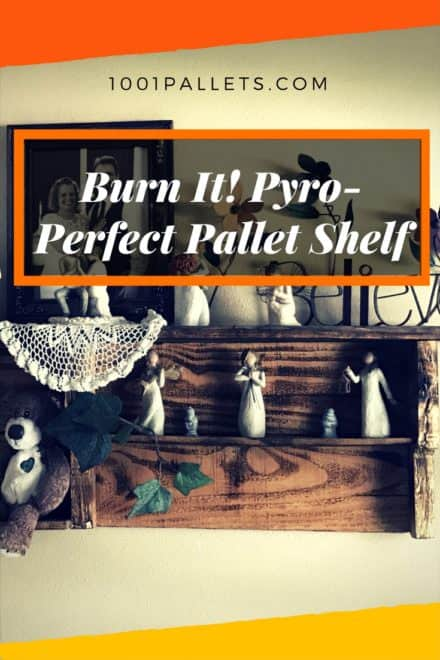 Pyro-perfect Pallet Wall Shelf
