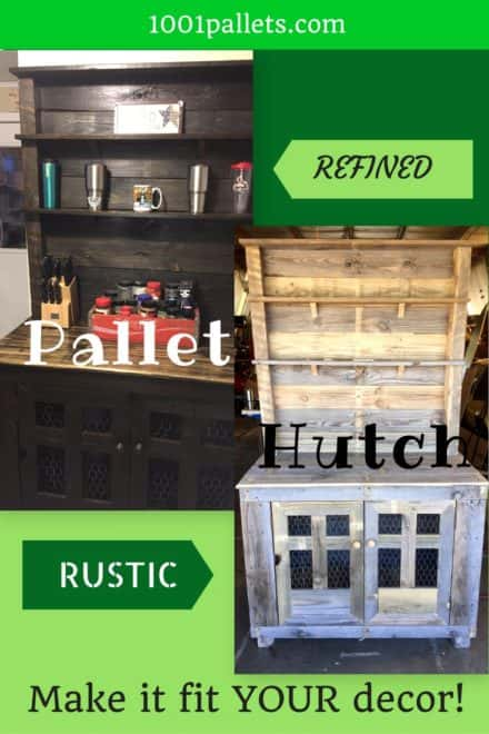 Rustic Country-style Pallet Hutch