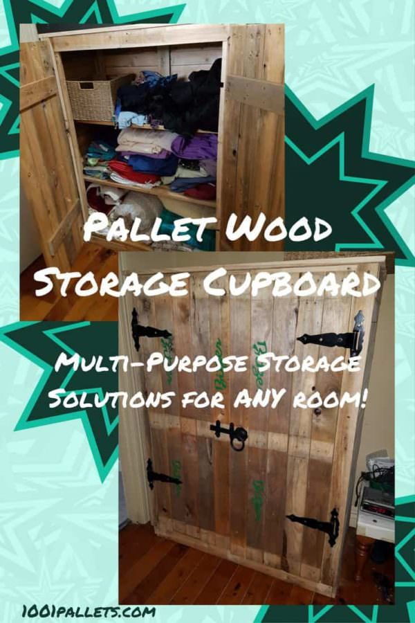 This Pallet Cupboard Organizes Your Hall / Entryway!