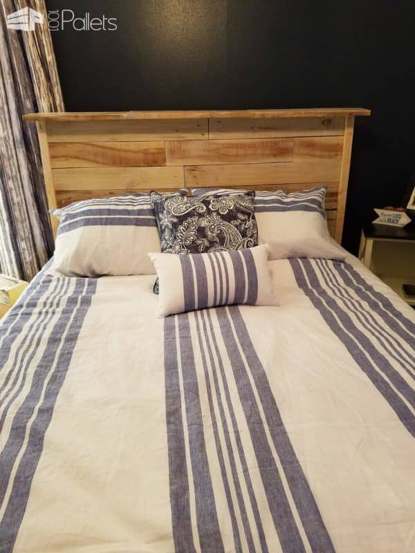 #5 pallet project includes this pallet headboard. July 2017 Pallet Projects