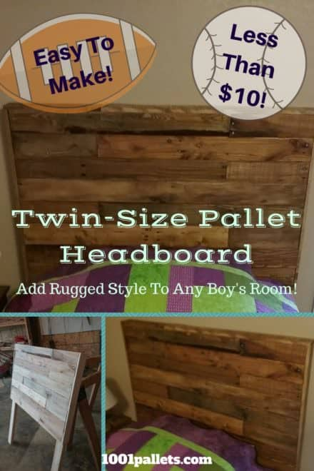Twin Size Pallet Wood Headboard