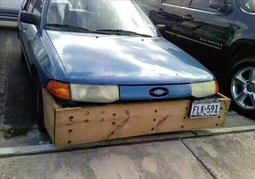 Nothing better than a Weird Wood bumper for your car.