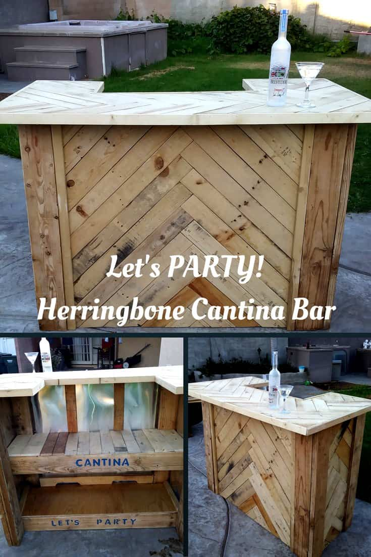 amazing herringbone pallet party bar 1001 pallets
