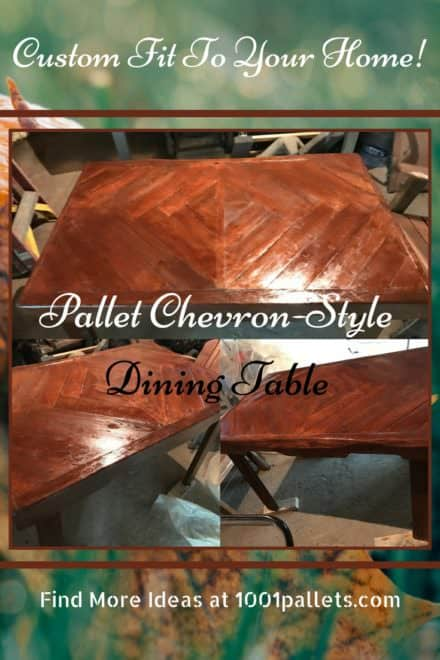 Attractive Pallet Chevron Dining Table