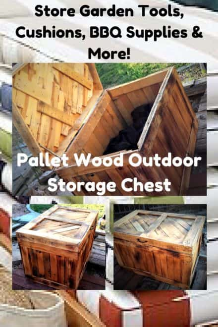 Beautiful Versatile Pallet Wood Storage Chest