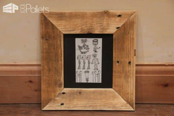 Make These Pallet Picture Frames In Diffe Sizes They Are Perfect For Gifts Too
