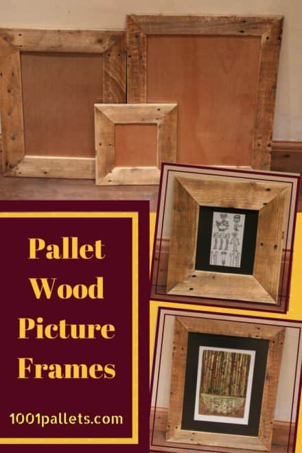 Charming Pallet Picture Frames