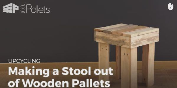 Make this Fast Pallet Stool and add much-needed small seating options in your man cave or workshop.
