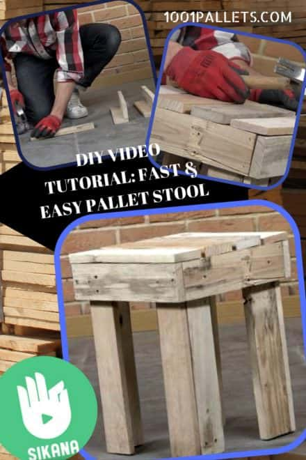 Diy Video Tutorial: Fast Pallet Stool