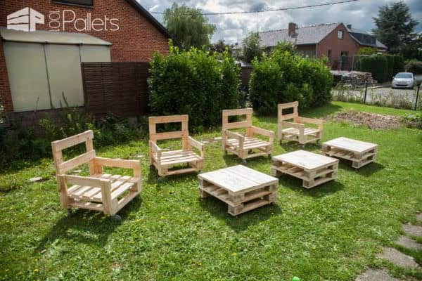 Diy Video Tutorial: Industrial Pallet Armchair Set / Fauteuil Industriel En Bois De Palettes DIY Pallet Video Tutorials Pallet Benches, Pallet Chairs & Stools