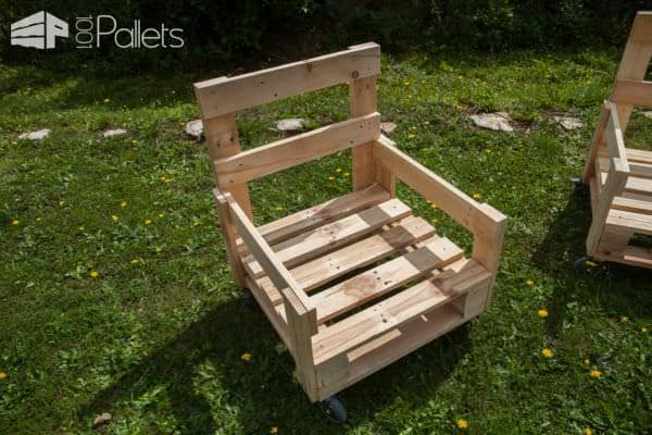 Make this Pallet Armchair with ordinary shop tools.